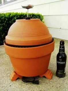 Smoker made out of terracotta pots!