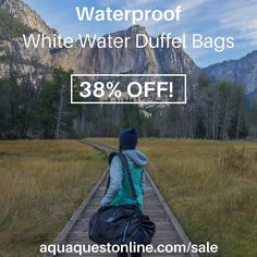 Get our waterproof White Water duffel bags for almost 40% off! Available in 50L and 75L sizes and in Black Red or Charcoal. Visit http://ift.tt/1MLKJL4 for more info