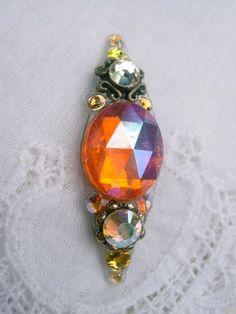 Sunshine Sliver Bindi  swarovski belly dance crystal by KuhlJewels, $15.00
