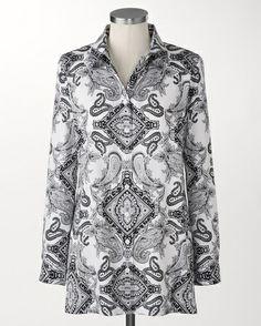Paisley no-iron Perfect Tunic™ - [K22042]
