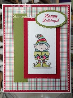Thick Whisper White, Old Olive, Real Red, Image from Stampendous - Snowy Short Stack