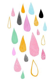 I love drawing of drops of water. This one's by Ashley Goldberg.