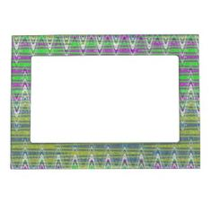 Colorful pattern magnetic picture frame #zazzle #decor #photoframe