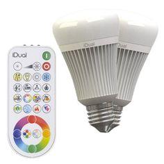 2_ampoules_led_a_changement_de_couleurs___telecommande_11_5w_e27_idual_jedi