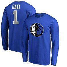 Dallas Mavericks Fanatics Branded Big & Tall #1 Dad Long Sleeve T-Shirt - Royal