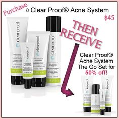 Purchase the Clear Proof skincare set and receive 50% off the travel set! Enter PINTEREST in the comments at checkout!