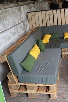 Construire un salon de jardin en bois de palette | Patio en bois en ...