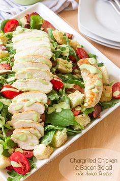 Chargrilled Chicken and Bacon Salad with Avocado Dressing   Annie's Noms