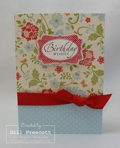 Stampin Up sale-a-bration paper - with a Cath Kidston feel