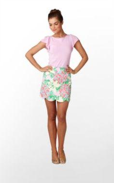 Lilly Pulitzer Lynnie Skirt in Resort White Mariposa $118
