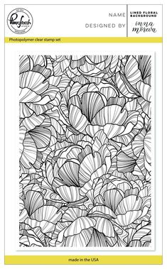 Lined floral background