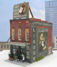 Liquor Store HO Scale Miniature Diorama