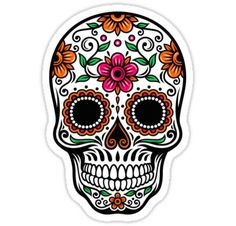 Shop for 2 X Sugar Skull Vinyl Sticker Decal Ipad Laptop Car Bike Helmet Girls Gift Wide X Tall). Mexican Skull Tattoos, Sugar Skull Tattoos, Mexican Skulls, Sugar Skull Painting, Sugar Skull Art, Sugar Skulls, Body Painting, Candy Skulls, Calaveras Mexicanas Tattoo