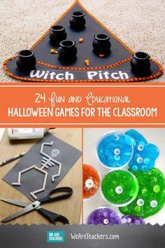 Halloween Party Activities, Classroom Halloween Party, Halloween Activities For Kids, Classroom Crafts, Preschool Halloween Activities, Kindergarten Halloween Party, Fun Classroom Games, Hallowen Party, Party Crafts