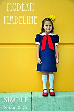 (Jenni) Let's be serious this is definitely every day wear! So cute! #Costume. It would be pretty easy to make the bow and neck piece as-one and tie around the top of a blue dress.