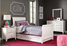 Ivy League White 6 Pc Twin Sleigh Bedroom. $999.99.  Find affordable Bedroom Sets for your home that will complement the rest of your furniture.