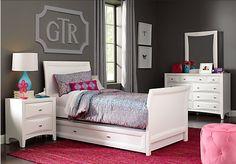 Ivy League White 5 Pc Twin Sleigh Bedroom. Teen Bedroom SetsBedroom ...
