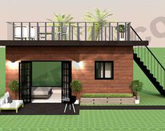 Shipping Container Studio Apartment 20 Ft Container Tiny Home Design and Floor Plan The Cosmopolitan Container Home Tiny Home Floor Plans House Plans For Sale, Modern House Plans, House Floor Plans, Modern Tiny House, Off Grid Tiny House, Vintage House Plans, Shipping Container Home Designs, Container House Design, Shipping Containers