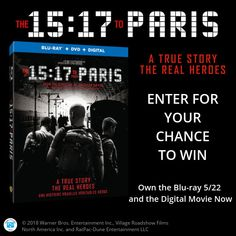 Enter for your chance to win The 15:17 to Paris on Blu-ray