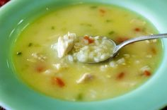 Chicken and Rice soup.  Pioneer Woman.  One of my old favorite soups from Metro market.