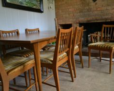 Dining Set Table Hutch 6 Chairs Kroehler 1800