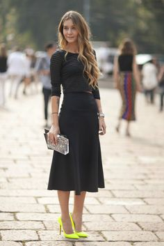 5d05a6d8731a 37 best Black Midi Skirt - how to style images | Black midi skirt ...