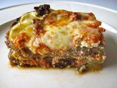 Vegetable Beef Lasagna (Without Noodles)