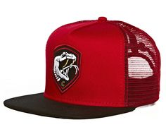 "CROOKS & CASTLES ""Serpent Mesh Trucker"" Snapback Cap"