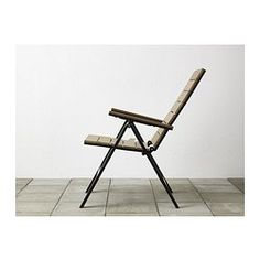 FALSTER Reclining chair, outdoor, gray foldable gray