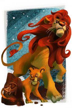Rising Simba by ~galgard - Simba and Mufasa - The Lions King