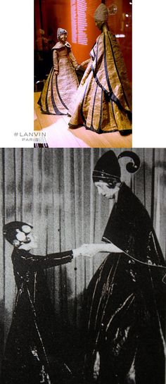 Jeanne Lanvin and her daughter Marguerite, 1907 ©patrimoine lanvin http://artesycosas.com/2015/03/jeanne-lanvin/