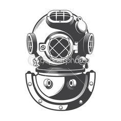 casco de buceo Vintage — Ilustración de stock #49656289