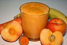 Coconut Turmeric Peach Smoothie - Any excuse to throw in some turmeric to a recipe is a good idea because this spice increases the antioxidant power 10-fold in your drink!