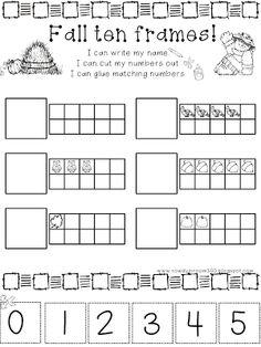Ten Frame Template Printable  Document Sample  Classroom Ideas