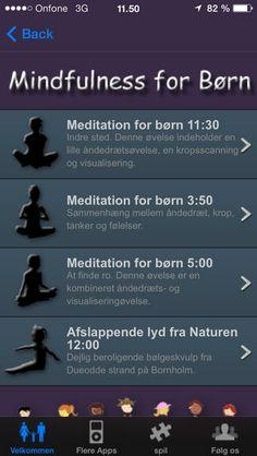 Mindfulness for børn (og voksne) - Dansk IOS-app - pris: 13,00 kr.