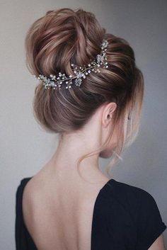 Crystal and Pearl hair vine Extra Long Hair Vine Bridal Hair Vine Wedding Hair Vine Crystal Hair Piece Bridal Jewelry Hair Vine Pearl - Hair styles - Wedding Hairstyles