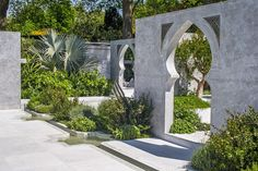 Designer Kamelia bin Zaal of the United Arab Emirates made her long-awaited debut at RHS Chelsea this year with a garden inspired by traditional Islamic horticulture, art, and architecture. Fig trees, jasmine, rosemary, and papyrus conjured up the scents of the Spice Route, and four walls—inclusive of Arabic archways and calligraphy—helped divide the space. It was a brave debut for Bin Zaal, striking a fine balance between good looks, a pleasurable atmosphere, and a strong idea.