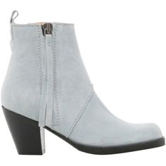 Pre-owned Acne Light Blue Boots (£195) ❤ liked on Polyvore featuring shoes, boots, light blue, suede boots, acne studios, light blue shoes, light blue suede shoes y pre owned shoes