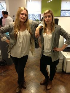 Joanne Krarup // Senior Account Exec & Zara Roberts // Account Exec rocking almost identical outfits at the OgilvyAction London office! Around The Worlds, Zara, London, Outfits, Style, Fashion, Outfit, Swag, Moda