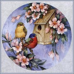 Diy diamond painting full drill bird and house cross stitch crystal square diamond sets unfinish decorative embroidery Bird Pictures, Vintage Pictures, Tapestry Kits, China Painting, Diy Painting, Bird Prints, Art Pages, Bird Art, Bird Feathers