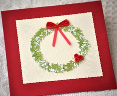 Paper Quilling Quilled Christmas Card by PaperSimplicity,