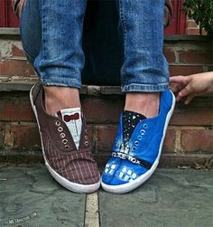 Canvas doctor who shoes, i would wear these.