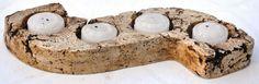 Portavelas en pasta piedra