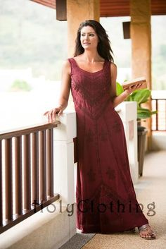 Shop Ena Satin Renaissance Sun Dress In Burgundy Wine: http://holyclothing.com/index.php/ena-empire-waist-satin-lace-renaissance-gothic-sun-dress.html At $44.99. Repins are always appreciated :) #holyclothing #fashion