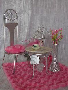 Furniture Diorama 1 4 1 6 Table Chair for Tonner Ellowyne Barbie BJD Allfordoll | eBay
