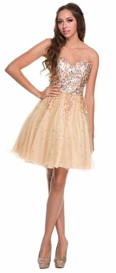 Gold Sequin Cocktail Dresses | dales.tk