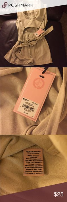 NWT Juicy couture suede vest Beautiful and brand new! Bought to wear to an event and ever needed it. See tag for material and original price. Make offer 😁 Juicy Couture Tops