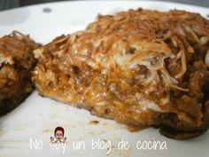 BERENJENAS AL HORNO RELLENAS DE CARNE-No soy un blog de cocina