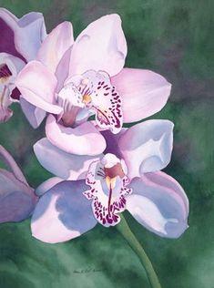 "Karen L. Bell Gallery ""Paradise"" Watercolor Painting"