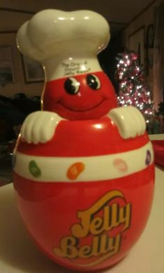 """JELLY BEAN"" Cookie Jar Kinds Of Cookies, Cute Cookies, Vintage Toys 1960s, Barrel Cake, Antique Cookie Jars, Christmas Cookie Jars, Biscuits, Vintage Cookies, Candy Jars"